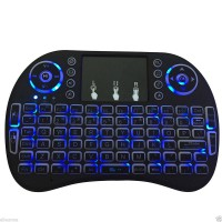 Mini i8 2.4GHz Backlit Wireless Keyboard Blue