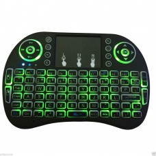 Mini i8 2.4GHz Backlit Wireless Keyboard Green