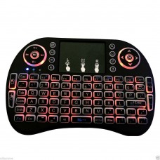 Mini i8 2.4GHz Backlit Wireless Keyboard Red